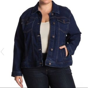 Joe Fresh Dark Rinse Denim Jacket Plus Size 2X
